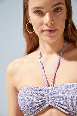 Womensecret Top bikini bandeau reversible rosa