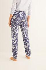 Womensecret Calças compridas de pijama estampagem azul navy azul