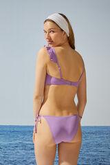 Womensecret Top bikini bandeau asimétrico morado rosa