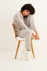 Womensecret Pijama camisero manga larga Miffy gris