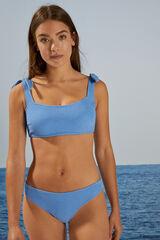 Womensecret Top bikini esponjoso azul