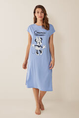 Womensecret Camisa de dormir midi Cosmic Dreamer azul