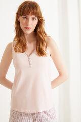 Womensecret Pijama corto 100% algodón sostenible rosa rosa