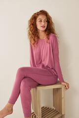 Womensecret Camiseta nudo manga larga rosa