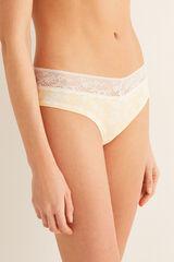 Womensecret Braguita culotte algodón y encaje blanco
