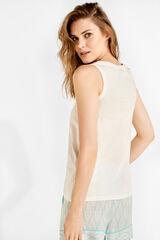 Womensecret Camiseta sin mangas blanco