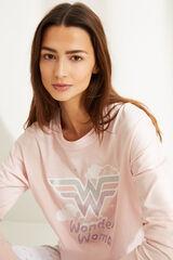 Womensecret Pijama manga comprida Mulher-Maravilha rosa