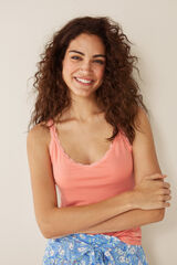 Womensecret Camiseta tirantes lisa rosa