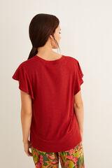 Womensecret Camiseta manga corta rojo