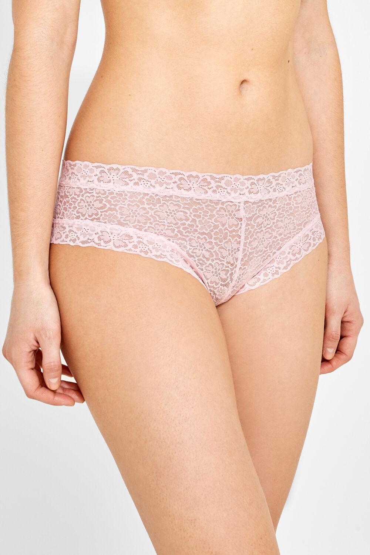 f34f3746c8 Womensecret Culotte brasileña con encaje rosa · Comprar