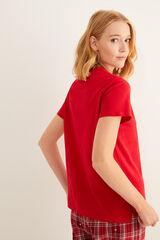 Womensecret Camiseta manga corta Better Together rojo burdeos