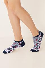 Womensecret Calcetines cortos estampados azul