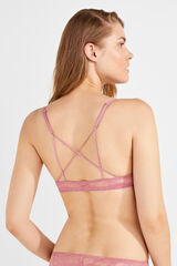 Womensecret Soutien push up costas cruzadas rosa