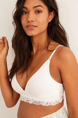Womensecret Sujetador lactancia detalle encaje blanco