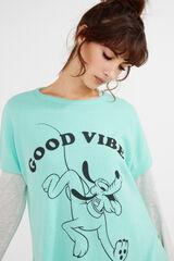 Womensecret Camiseta  Pluto 'Good Vibes' verde