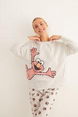 Womensecret Pijama largo Elmo gris gris