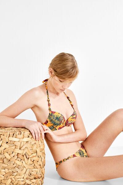 78b72904c154 Braga de bikini brasileña estampado tropical