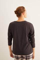 Womensecret Camiseta navy panadera  gris
