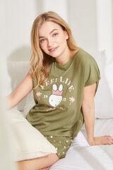 Womensecret Pijama corto de manga corta algodón Miffy beige