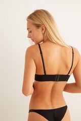 Womensecret Sujetador triangular con detalles strass negro