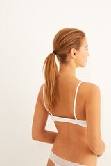 Womensecret BEAUTIFUL Sujetador clásico algodón orgánico blanco blanco