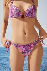 Womensecret Braga bikini brasileña rosa volantes rosa