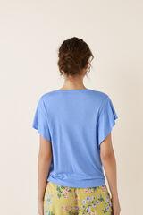 Womensecret Camiseta manga corta ancha azul