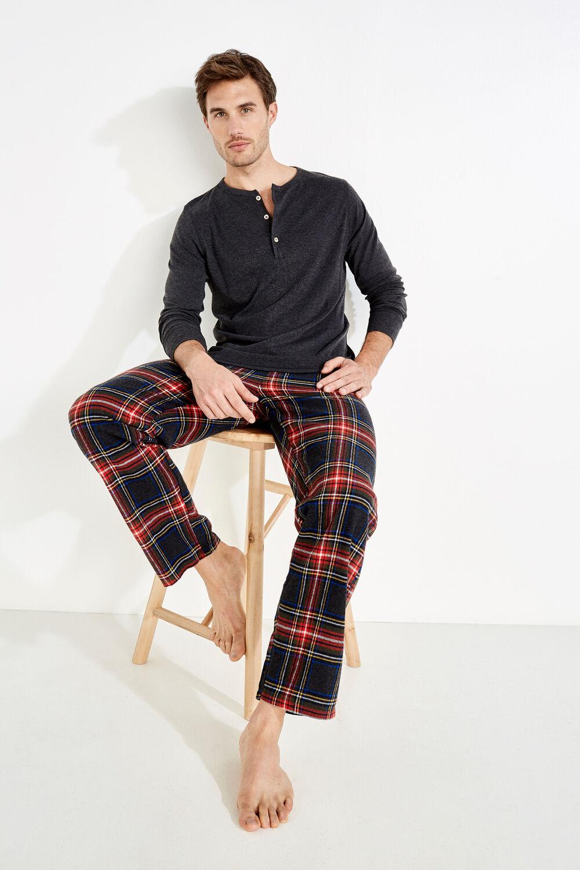 c189e655eb Womensecret Pijama para hombre de algodón gris