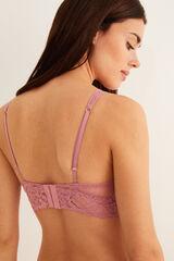 Womensecret Bralette halter guipur rosa