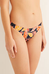 Womensecret Braga bikini reversible tropical y lisa rojo