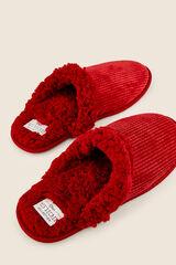 Womensecret Zapatillas casa pana para hombre rojo
