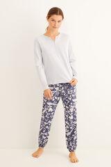 Conjunto pijama estampado azul navy