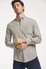 Conjunto camisa Oxford lisa y pantalón denim Milano