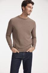 Conjunto jersey cuello caja y pantalón denim Milano