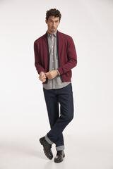 Conjunto camisa cuadros, chaqueta y pantalón denim Milano