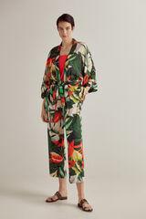 Conjunto estampado top halter y kimono PdH