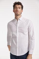Conjunto camisa Oxford PdH y pantalón denim slim