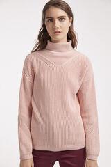 Conjunto jersey cuello perkins y pantalón Milano