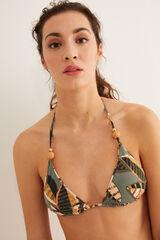 Conjunto bikini reversible hojas
