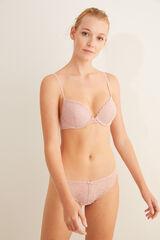 Conjunto ropa interior encaje rosa