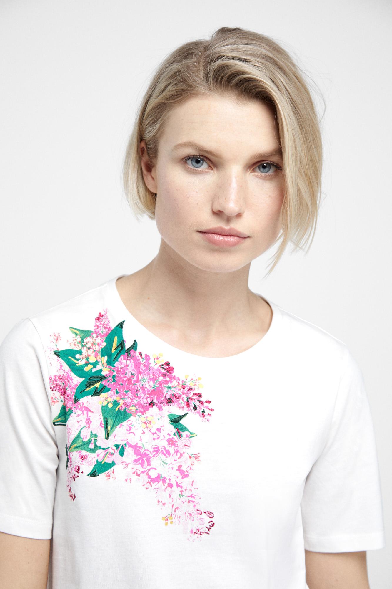 Camiseta floral algodón orgánico