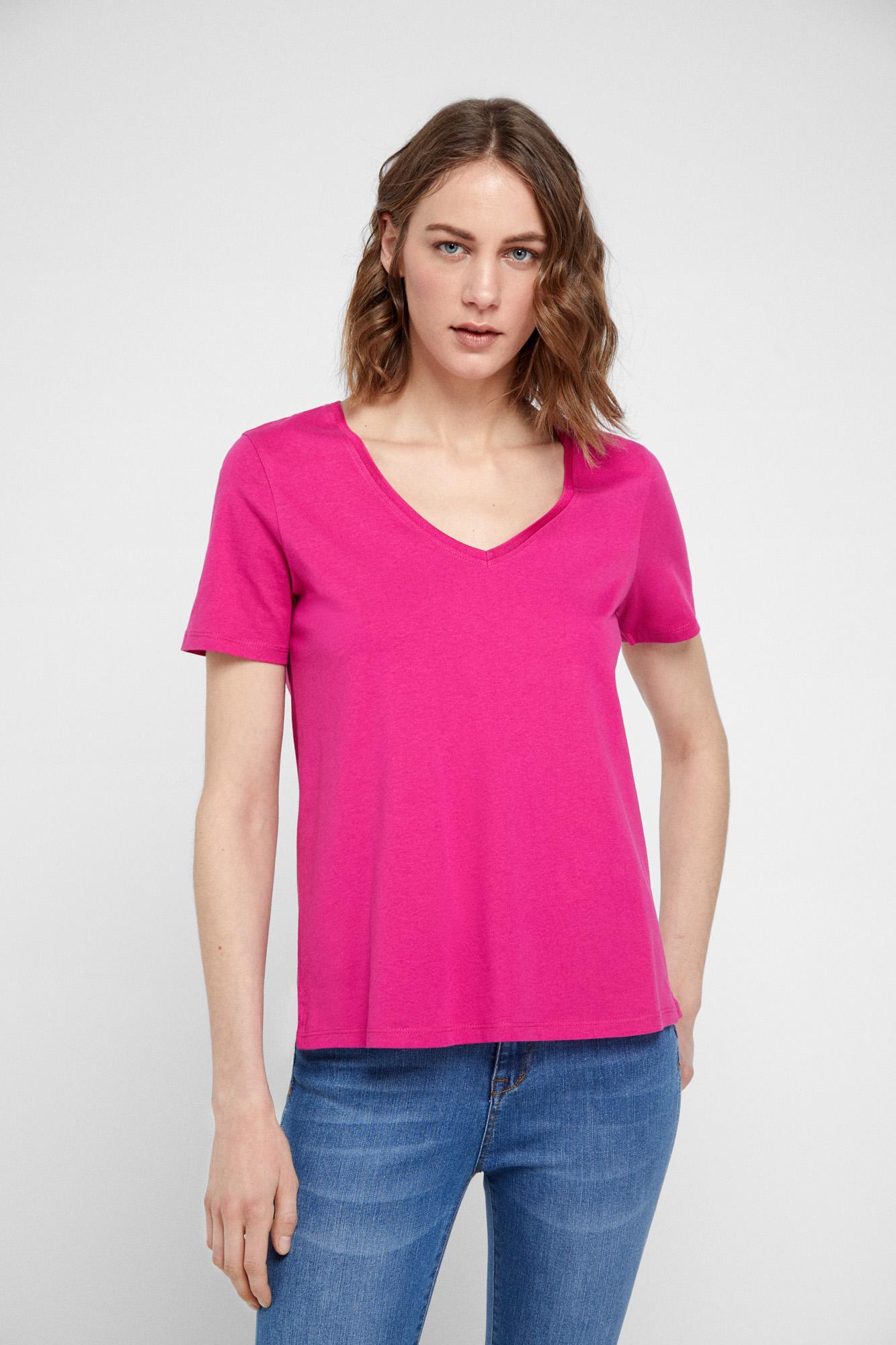 Camiseta tejido orgánico escote pico | Camisetas | Fifty