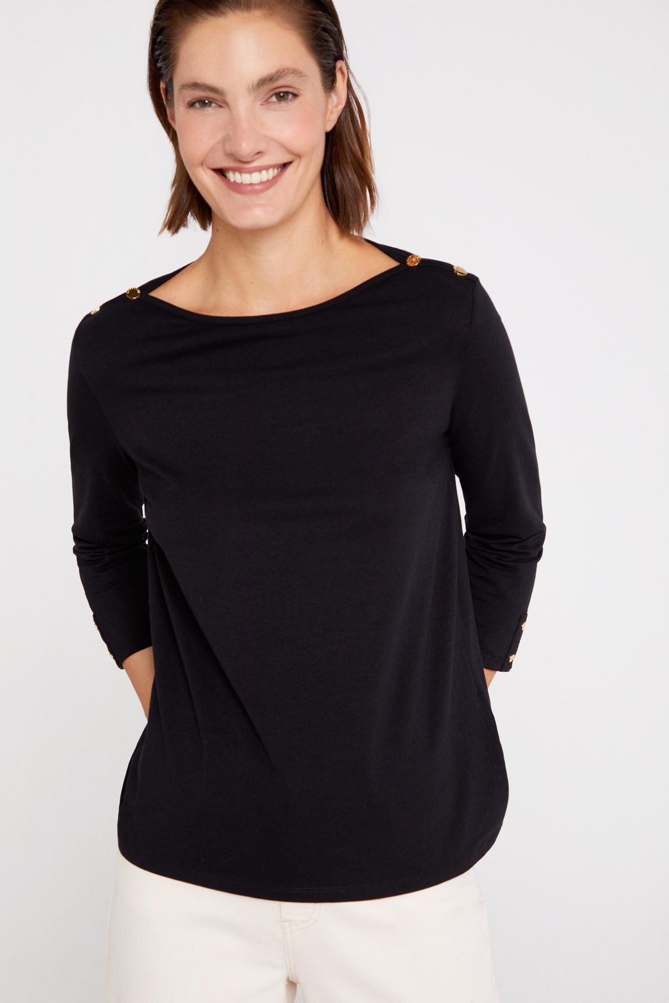 Camiseta escote barco algodón orgánico
