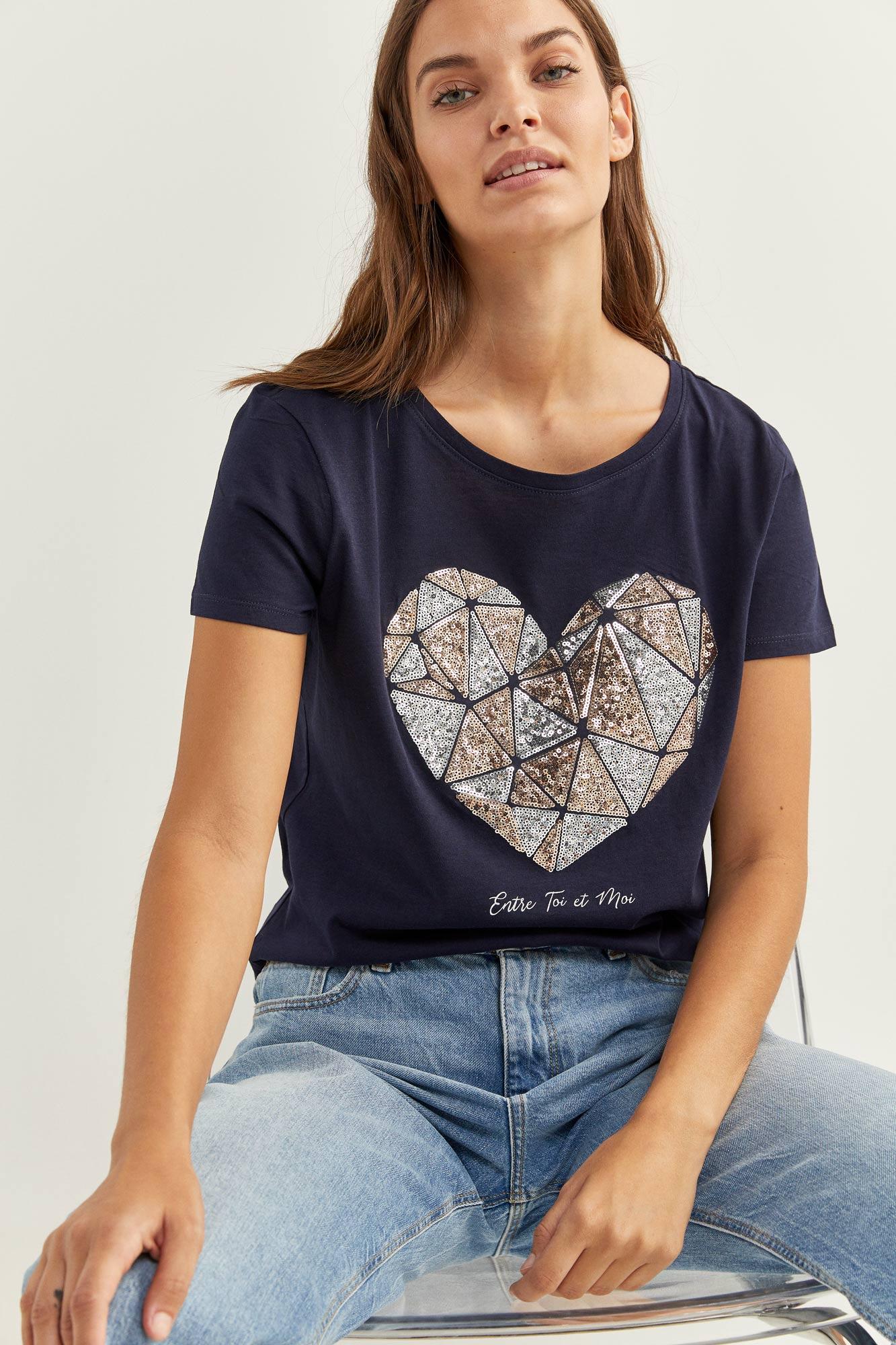 Camiseta Gráfica Glitter