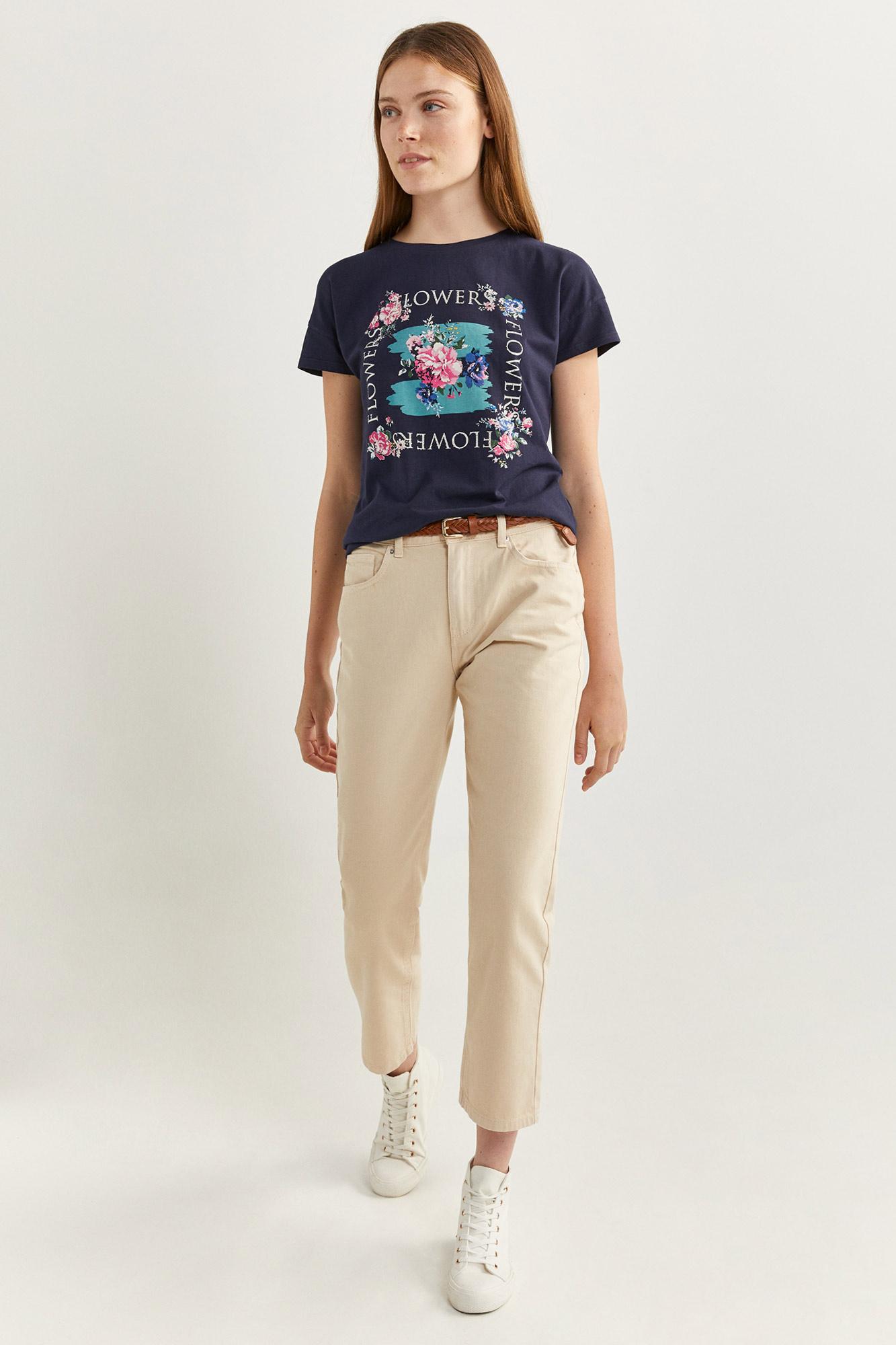 Camiseta Gráfica Flores