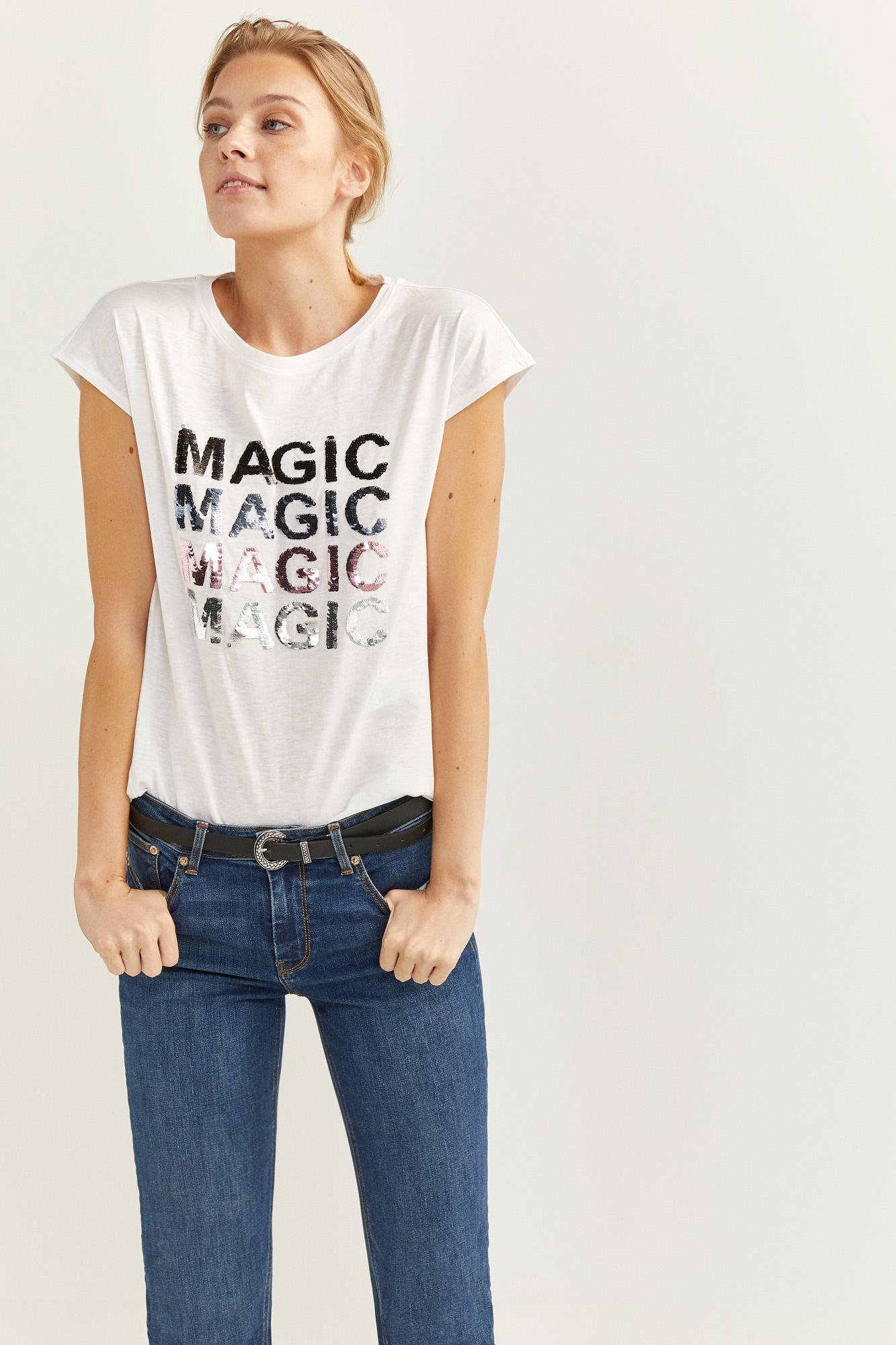 Camiseta Texto Glitter