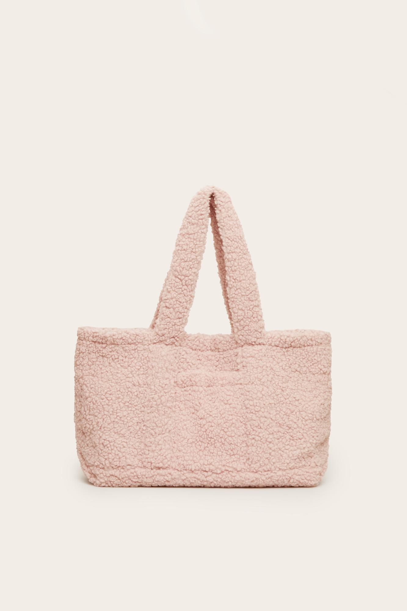 Bolso borreguito rosa