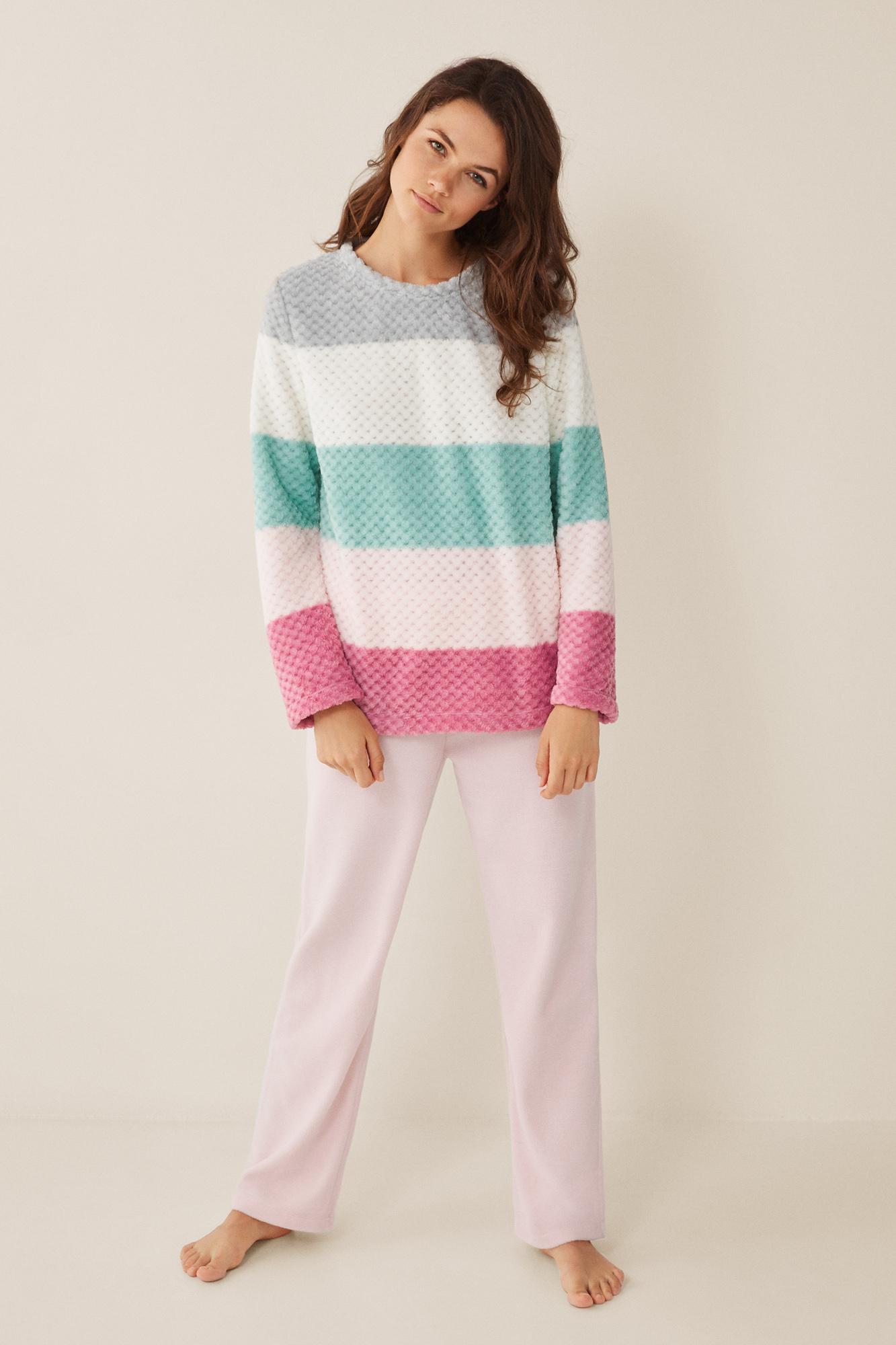 Pijama largo rayas