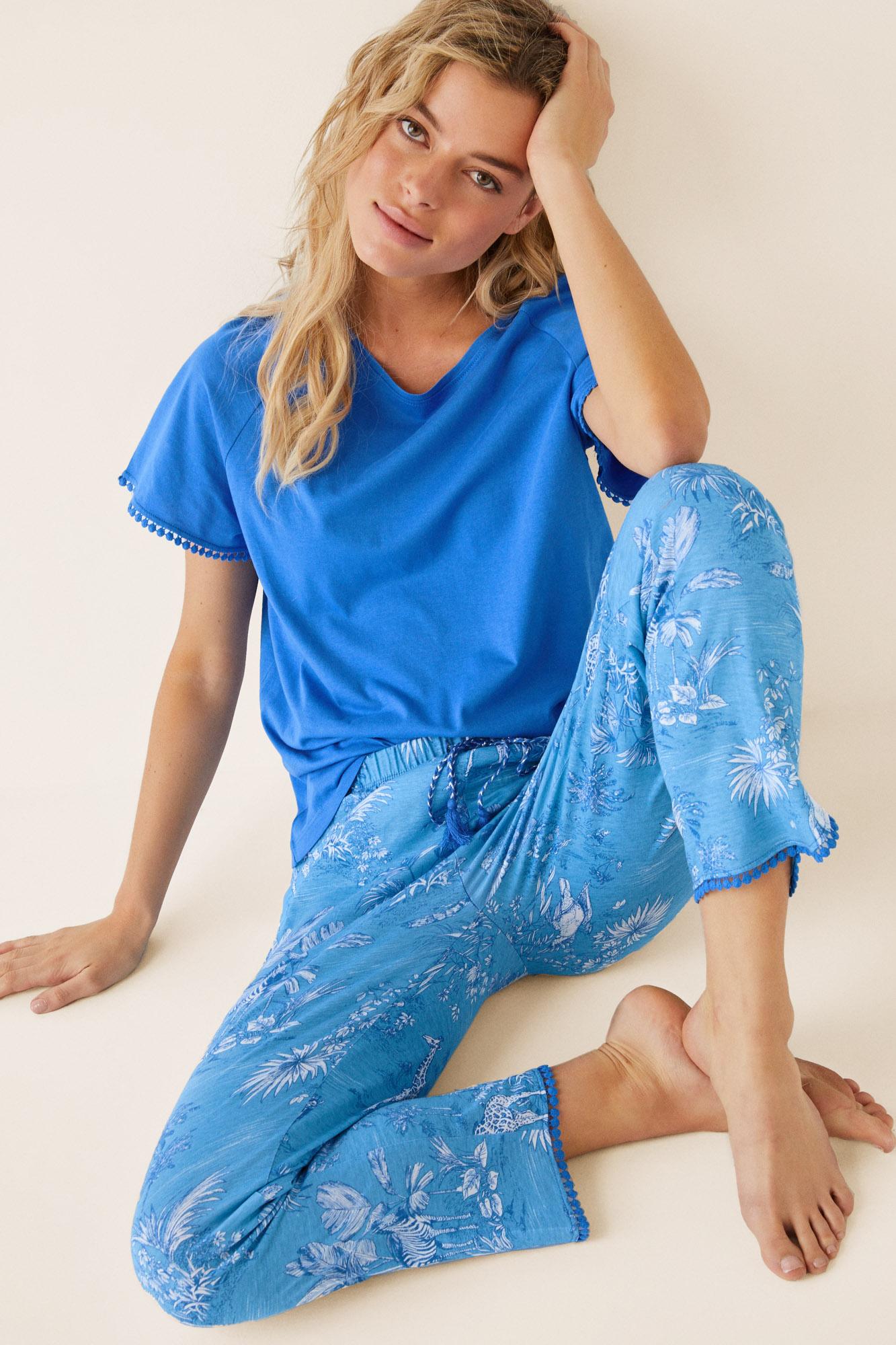Pijama capri tropical