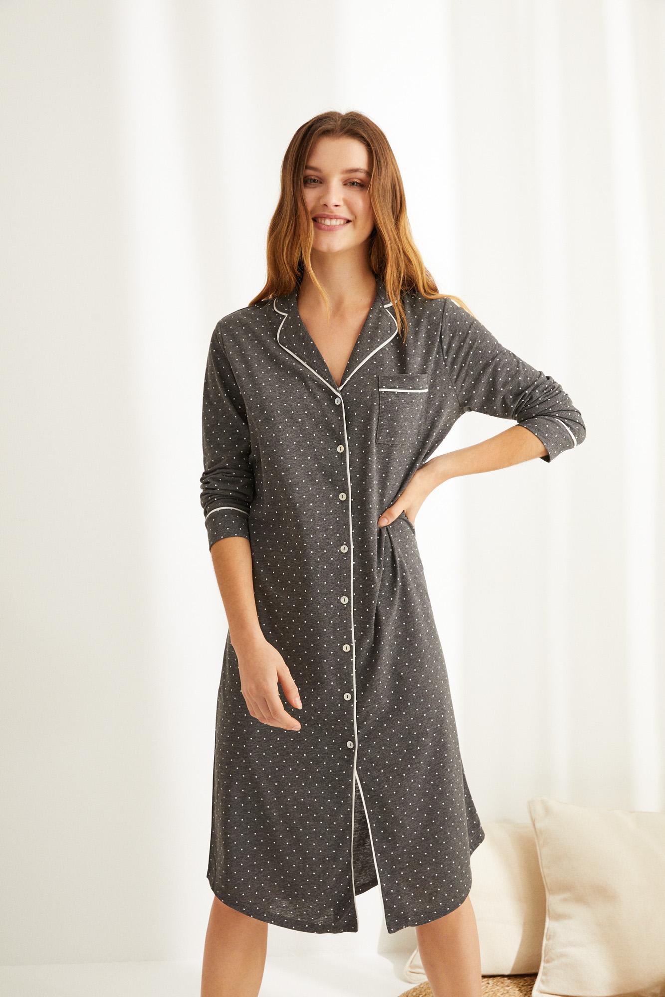 Camisola midi manga larga algodón